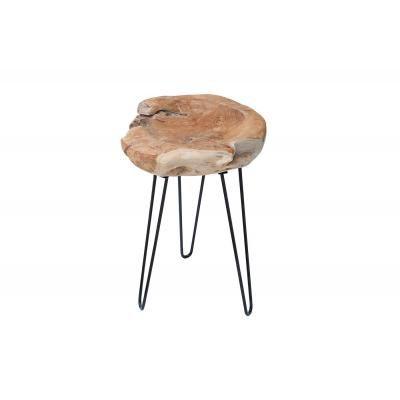 Hajlított lábú asztalka, teak fa - PION